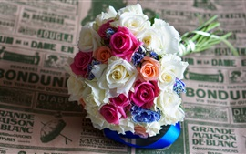 Bouquets, colorful roses