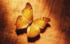 Preview wallpaper Butterfly, gold color