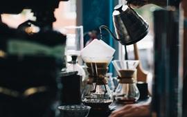 Cafe, café, garrafas