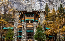 Preview wallpaper California, Ahwahnee Hotel, USA, Yosemite, rocks