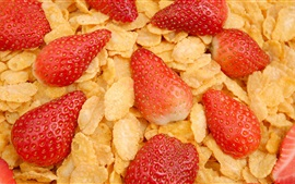 Cereal and strawberry