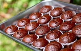 Aperçu fond d'écran Cupcakes au chocolat