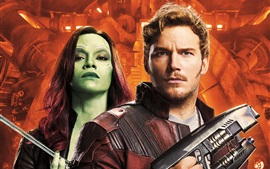 Preview wallpaper Chris Pratt, Zoe Saldana, Guardians of the Galaxy 2