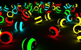 Preview wallpaper Colorful light balls, black background