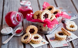 Preview wallpaper Cookies, food, jam