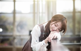 Preview wallpaper Cute Asian girl sleep in dream
