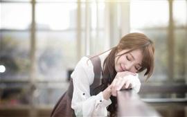 Cute Asian menina sono em sonho