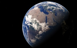 Earth, our home, planet, space, black background