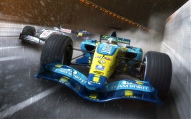 Preview wallpaper F1 race cars, speed, rain
