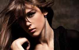 Preview wallpaper Fashion girl, long earrings