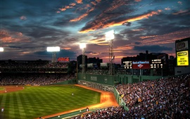 Preview wallpaper Fenway Park, night, USA