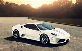 Preview wallpaper Ferrari 430 white car