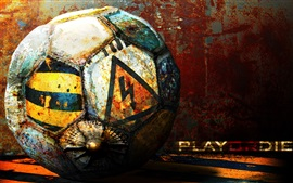 Preview wallpaper Football, play or die, creative picture
