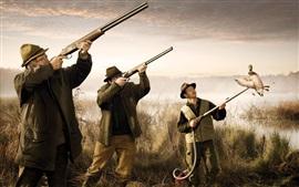 Забавная картинка, охотничья утка