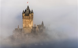 Preview wallpaper Germany, Reichsburg Cochem, castle, fog