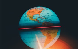 Preview wallpaper Globe map, ball, backlight