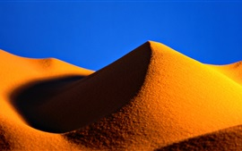 Preview wallpaper Gold sands, desert, hill