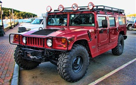 Preview wallpaper Hummer H1 Alpha red car