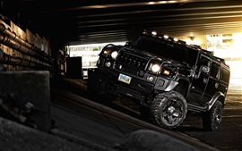 Preview wallpaper Hummer H2 black car