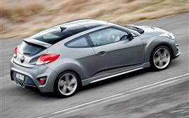 Preview wallpaper Hyundai Veloster Turbo silver car