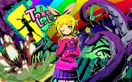 Preview wallpaper Kagamine Rin, anime girl