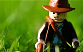 Preview wallpaper Lego toy, green background