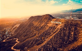 Los Angeles, Hollywood, USA, mountains, city