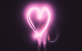 Love heart light