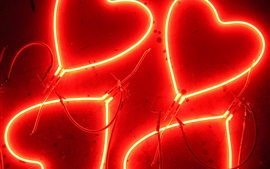Preview wallpaper Love heart neon