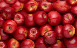 Preview wallpaper Many red apples, sweet fruit