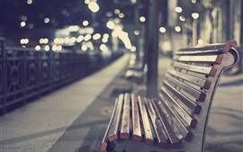 Preview wallpaper Park, bench, bokeh, evening