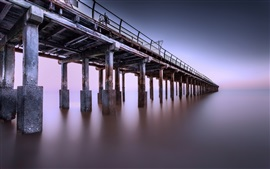 Preview wallpaper Pier, sea, dusk