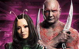 Preview wallpaper Pom Klementieff, Dave Bautista, Guardians of the Galaxy 2