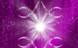 Preview wallpaper Purple background, glitter, rays, shine, abstract