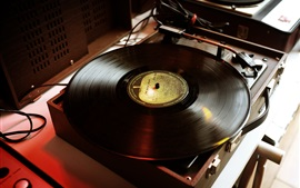 Preview wallpaper Record player, music theme