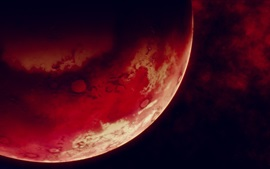 Preview wallpaper Red planet, space, black background