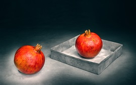 Preview wallpaper Red pomegranate, fruit photography, still life