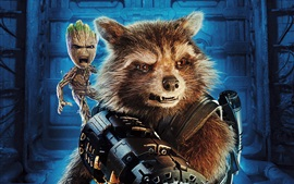 Rocket, Baby Groot, Guardians of the Galaxy 2