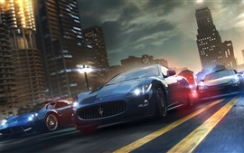 Preview wallpaper Supercar, road, city, speed, game