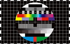 TV pause, colorful background