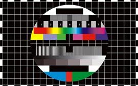 Телевизионная пауза, красочный фон