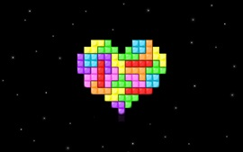 Preview wallpaper Tetris love heart, space