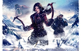 Preview wallpaper Tomb Raider, Lara Croft, winter, snow, art picture