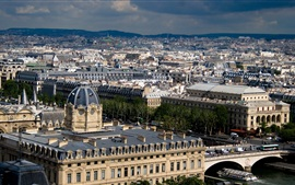 Preview wallpaper Top view Paris, houses, city, France
