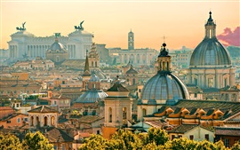 Travel to Rome, houses, city, Italy