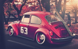Preview wallpaper Volkswagen beetle red car