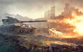 Mundo dos tanques, jogos, fogo, chama