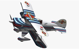 Preview wallpaper 3D biplane aircraft