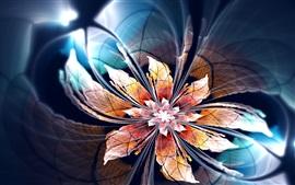 Flor abstrata, luz