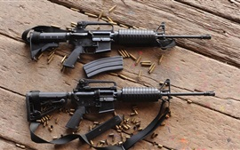 Preview wallpaper Automatic rifles, ammunition, guns, weapon